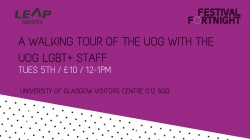 A Walking Tour of UoG with the UoG LGBT+ Staff Network