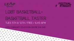 LGBT Basketball- Basketball Taster