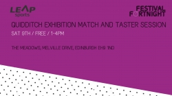 Quidditch Exhibition Match and Taster Session