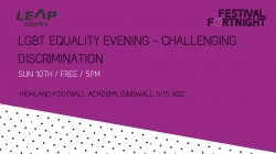 LGBT Equality Evening- Challenging Discrimination